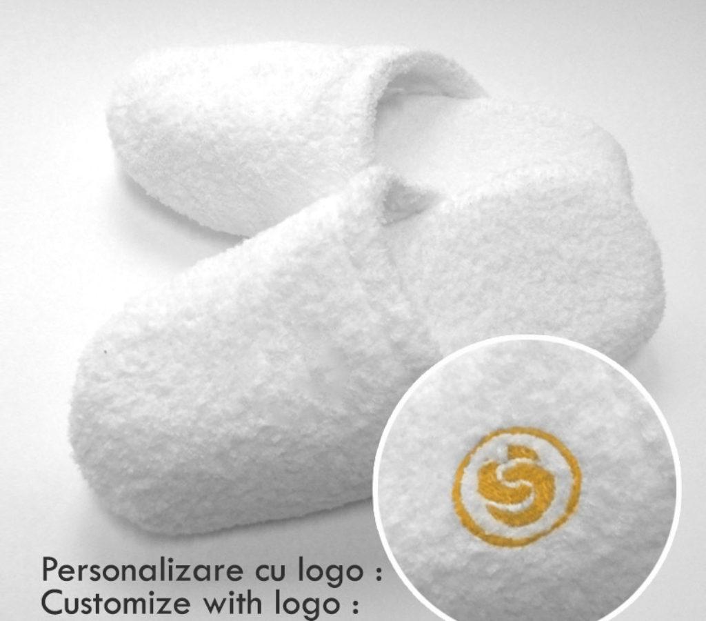 Papuci de baie Royal - personalizare cu logo - Dimanche Cotton Club